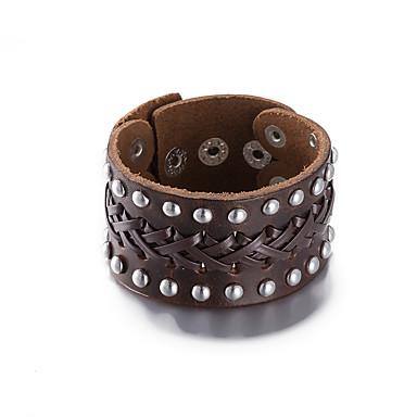 Bracelete - Pele Europeu, Fashion Pulseiras Preto / Marron Para Presentes de Natal Casamento Aniversário