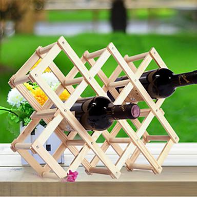 povoljno Oprema za bar-kreativni kuhinja drvo umjetnosti vino stalak grogshop restoran ukras