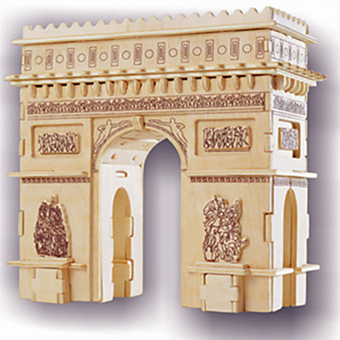 Wooden Puzzle Wooden Model Famous buildings Arc de Triomphe Professional Level Wooden 1 pcs Kid's Adults' Boys' Girls' Toy Gift