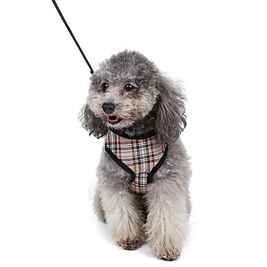 Kat Hund Seler Hundebånd Justerbare / Uttrekkbar Pustende Myk Verneutstyr Løp Vest Fritid Cosplay Geometrisk Tøy Net Gul Rød Blå Rosa