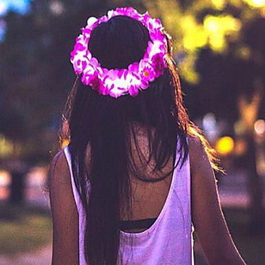 levne Světelné šperky-Dámské Dívčí Květinový Květiny Osvětlená Květiny Šperky do vlasů / Látka