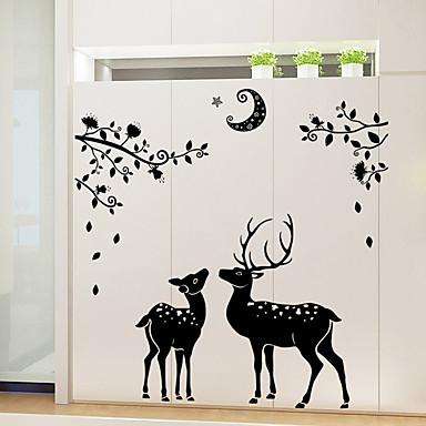 Dekorative Mur Klistermærker - Animal Wall Stickers Dyr / Still Life / Højtid Stue / Soverom / butikker / cafeer / Kan fjernes