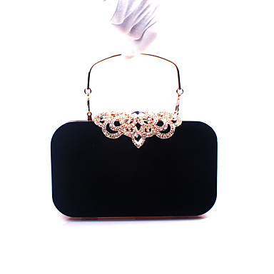 Women's Crystal / Rhinestone Evening Bag Rhinestone Crystal Evening Bags Velvet Geometric Red / Wine / Royal Blue / Fall & Winter