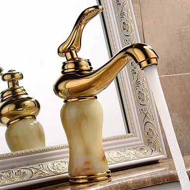 Nykyaikainen Moderni Integroitu Laajallle ulottuva Keraaminen venttiili Yksi reikä Yksi kahva yksi reikä Ti-PVD, Kylpyhuone Sink hana