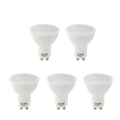 5pcs 5.5W 250lm GU10 Żarówki punktowe LED MR16 21 Koraliki LED SMD 2835 Ciepła biel Zimna biel Naturalna biel 100-240V 85-265V