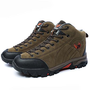 Unisexo Sapatos Algodão Inverno Conforto Tênis Aventura Plataforma Cadarço para Ao ar livre Cinzento Verde Azul Real Verde Escuro