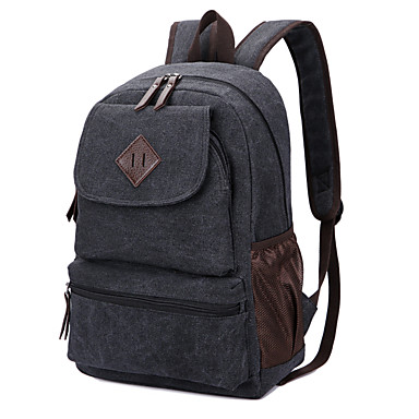 c87b091c28b Γυναικεία / Γιούνισεξ Τσάντες Καμβάς Σχολική τσάντα Μονόχρωμο Μαύρο / Καφέ  / Χακί 5325597 2019 – $26.99