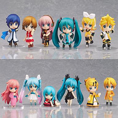 Anime Action Figures geinspireerd door Vocaloid Hatsune Miku PVC 6.5 CM Modelspeelgoed Speelgoedpop