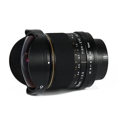 versión mejorada de 8 mm f / 3,5 asférica objetivo ultra circular de pez para Canon 650D 750D 700D 600D 550D 500D 1000D 1100D