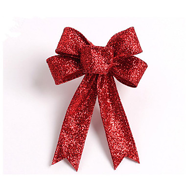 kuohuviinit glitter joulukuusi keula koristelu 13cm kangas 5 korvat orament kukkia keula solmua kodin osapuolen häät koristelu