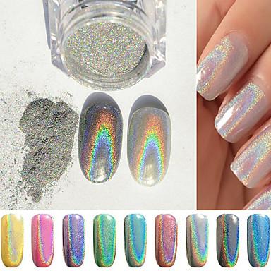 1pcs Glitter & Poudre Pudder Glitters Klassisk Neon & Bright Høy kvalitet Daglig