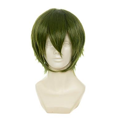 Pelucas sintéticas / Pelucas de Broma Recto Pelo sintético Verde Peluca Mujer Sin Tapa Verde OUO Hair
