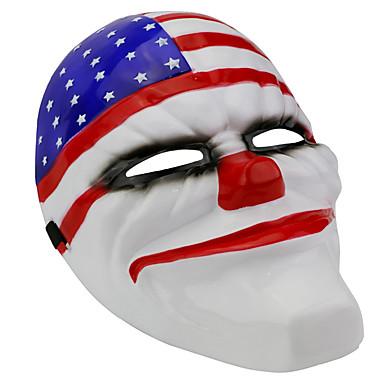 voordelige Maskers voor de feestdagen-Halloweenmaskers Carnavalsmaskers Muovi PVC Clown Horrorthema Volwassenen