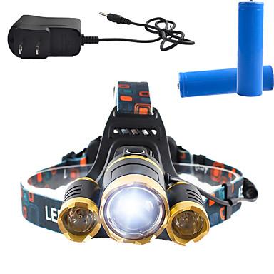 ヘッドランプ ヘッドライト LED 3000 lm 4.0 モード Cree T6 充電式 アングルライトのヘッド部 スーパーライト 調光可能 のために キャンプ/ハイキング/ケイビング 日常使用 サイクリング 狩猟 釣り 多機能 登山 屋外 対応
