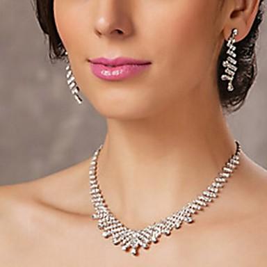 Sieraden Kettingen / Armband Bruidssieradensets Gift Boxes & Bags Bruiloft 1 Set Dames Zilver Giften van het Huwelijk