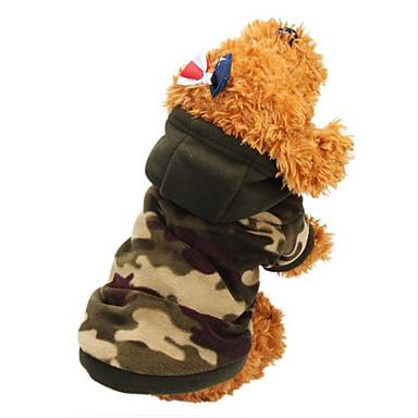 Gato Perro Abrigos Saco y Capucha Ropa para Perro camuflaje camuflaje de color Leopardo Algodón Disfraz Para Primavera & Otoño Invierno Hombre Mujer Mantiene abrigado Moda