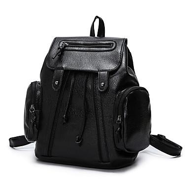 女性用 バッグ PU バックパック のために ショッピング カジュアル オフィス&キャリア アウトドア オールシーズン ブラック