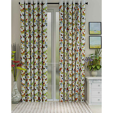 Eén paneel Window Behandeling Designer , dier Woonkamer Polyester Materiaal Curtains Drapes Huisdecoratie For Venster