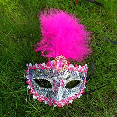1pc veermasker kant voor Halloween kostuum partij willekeurige kleur