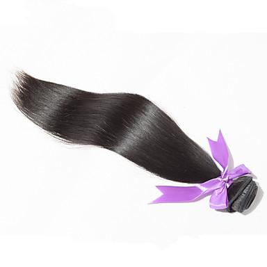 Aidot hiukset Intialainen Hiukset kutoo Suora Hiuspidennykset 1 Kappale Musta