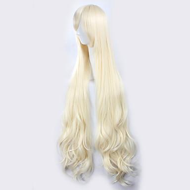 Pelucas sintéticas / Pelucas de Broma Rizado Pelo sintético Peluca Mujer Sin Tapa