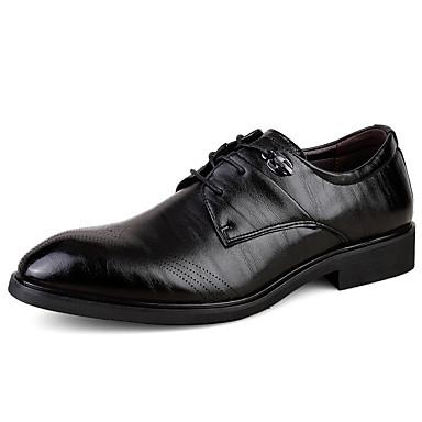 Miehet kengät Mikrokuitu PU Kevät Kesä Syksy Talvi Comfort Oxford-kengät Kävely Solmittavat Käyttötarkoitus Häät Kausaliteetti Juhlat