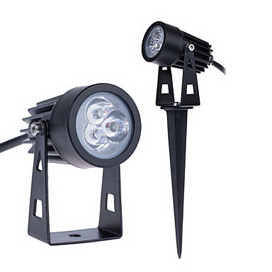 ราคาถูก ไฟประดับ-Jiawen 3 วัตต์ 255lm นำ floodlight 3 leds กลางแจ้งสวนสนามหญ้าภูมิทัศน์โคมไฟวอร์มสีขาวเย็นสีขาว ac85-265v