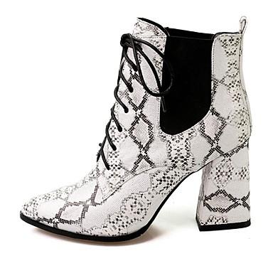 BootsitNaiset-Nahka-Valkoinen/musta-Rento-Comfort