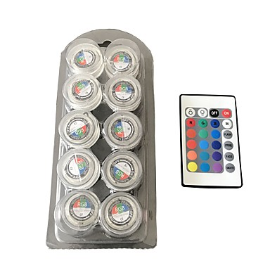 preiswerte Leuchtbirnen-LED-Aquarium beleuchtet 30-50 lm 4-pin T 3 LED-Perlen SMD 3528 Wasserfest Dekorativ RGB Rot Blau / 10 Stück