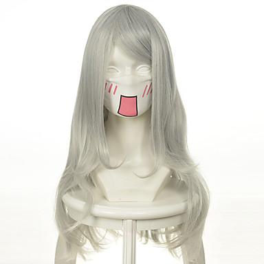 Syntetiske parykker / Kostymeparykker Dame Bølget Syntetisk hår Parykk Lang / Veldig lang Lokkløs Platinum Blond