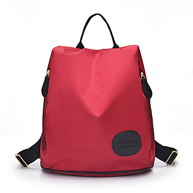 女性用 バッグ ナイロン バックパック のために ショッピング カジュアル アウトドア オールシーズン ブラック パープル フクシャ レッド ブルー