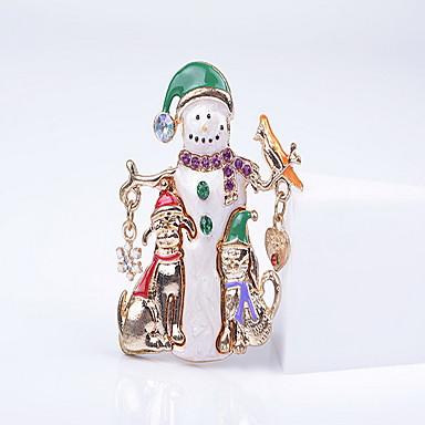 女性 ブローチ ぜいたく 幸福 欧風 クリスマス イミテーションダイヤモンド ハート スノーフレーク ジュエリー 用途 日常 カジュアル クリスマスギフト