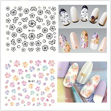 9pcs Nail Art Sticker Autocolantes de Unhas 3D maquiagem Cosméticos Prego Design Arte