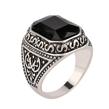 男性用 女性 指輪 欧風 合成宝石類 樹脂 銀メッキ 合金 十字架 ジュエリー 結婚式 パーティー 日常 カジュアル