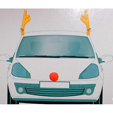 1pcs modernes Design Auto Dekoration Weihnachten Geweih Auto Geweih