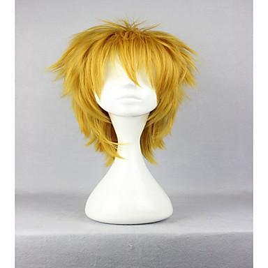 Synthetische Perücken / Perücken Locken Blond Synthetische Haare Blond Perücke Damen Kappenlos Goldenblond