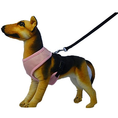 犬 ハーネス リード 調整可能 / 引き込み式 反射 高通気性 ソフト 安全用具 ランニング ベスト カジュアルスーツ コスプレ ソリッド ファブリック メッシュ フクシャ レッド グリーン ブルー ピンク