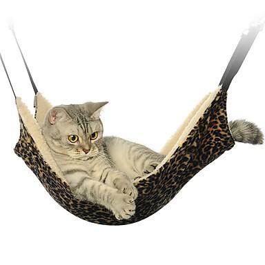 Gato Camas Mascotas Colchonetas y Cojines Plegable Leopardo Cebra Casual/Diario Negro Blanco Marrón Lana Polar