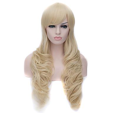 Kvinder Syntetiske parykker Lokkløs Dype bølger Bleik Blond Cosplay-parykk costume Parykker