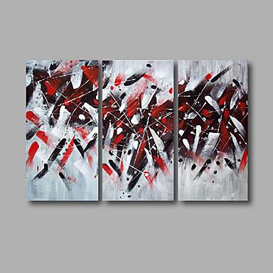 Handgeschilderde Abstract / Landschap Olie schilderijen,Modern Drie panelen Canvas Hang-geschilderd olieverfschilderij For Huisdecoratie