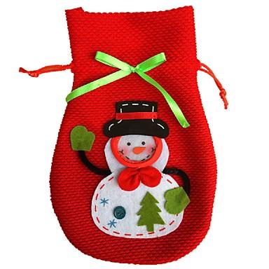 novo desenho animado natal boneco de neve de doces do partido do saco da bolsa de decoração para casa saco de presentes saco de