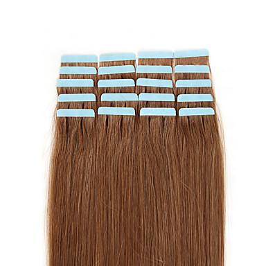 voordelige Extensions van echt haar-Febay Tape-in Extensions van echt haar Recht Mensen Remy Haar Aardbeien Blond