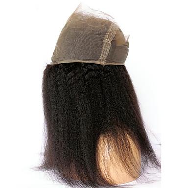 CARA 360 Frontal Suora Vapaa Osa Ranskalainen peruukkiverkko Aidot hiukset Vauvan hiusten kanssa