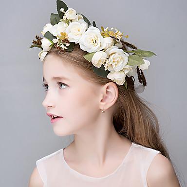 Linfrø / Harpiks / Tøy Tiaras / pannebånd / blomster 1 Bryllup / Spesiell Leilighet / Avslappet Hodeplagg / Hårklipp