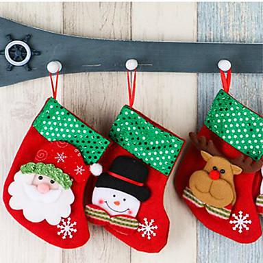 , Meia de Natal decorações acessórios aleatoriamente