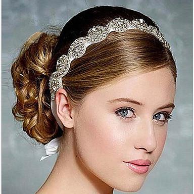diadema de cintas de cristal estilo elegante elegante femenino del banquete de boda