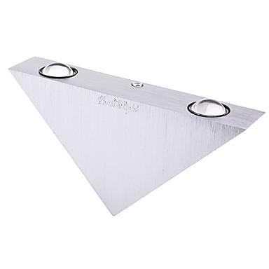 youoklight三角形3ワットは、夜の光ac85-265vを飾る壁ランプの寝室を主導しました