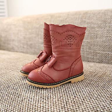 Bootsit-Tasapohja-Tyttöjen-Nahka-Musta Ruusun vaaleanpunainen Vaalean ruskea-Rento-Muut