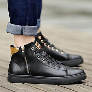 Herre-MikrofiberKomfort-Sneakers-Fritid-Svart