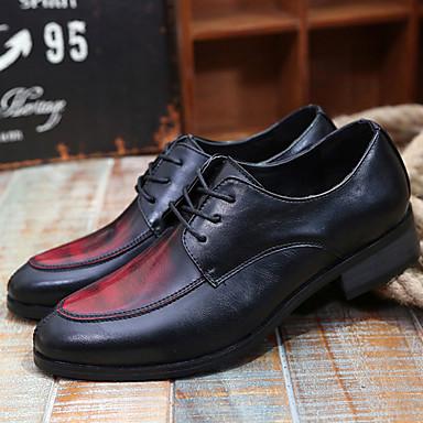 Miehet kengät PU Kesä Comfort Oxford-kengät Käyttötarkoitus Kausaliteetti Keltainen Ruskea Punainen